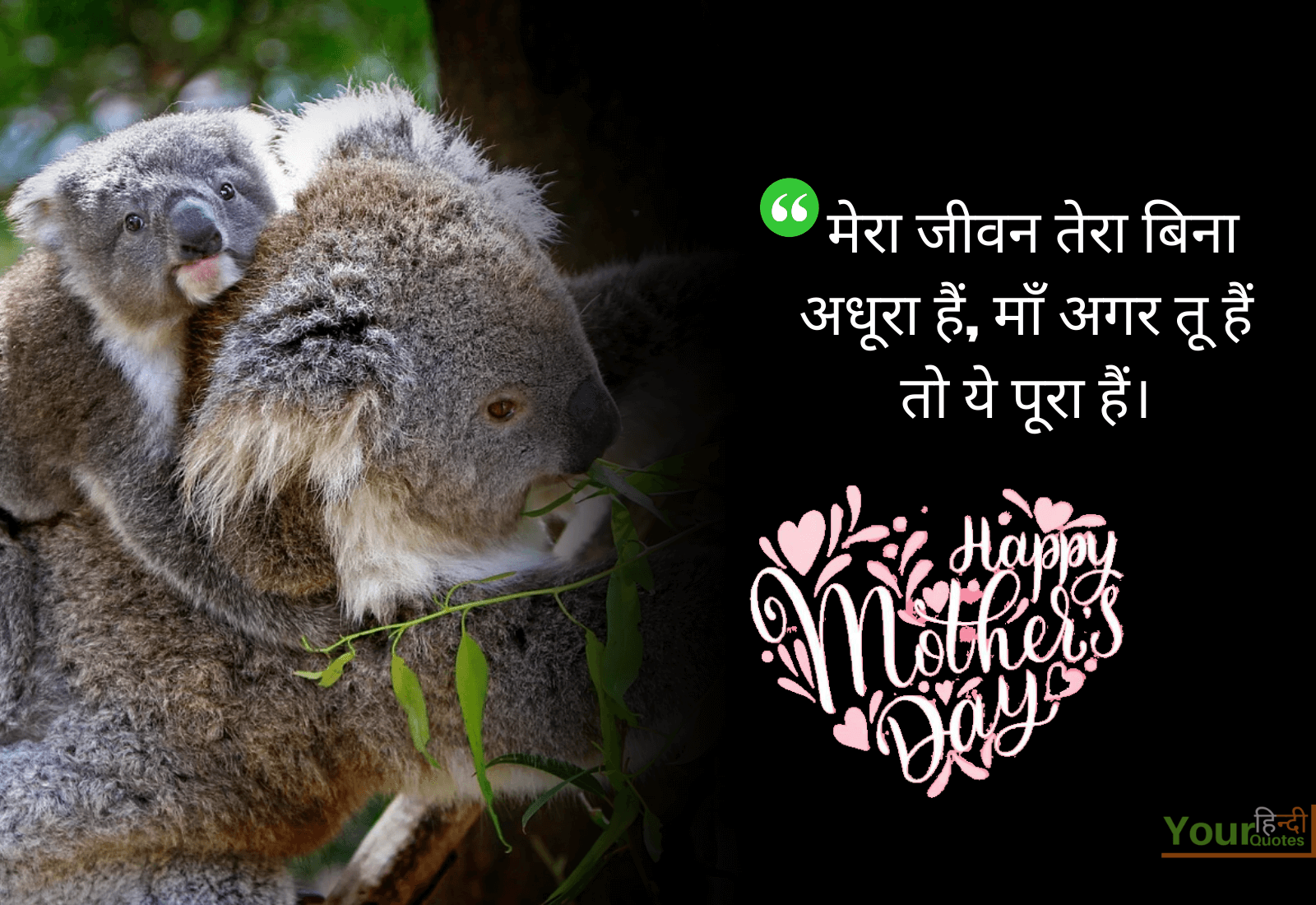 Happy Mothers Day Hindi Image