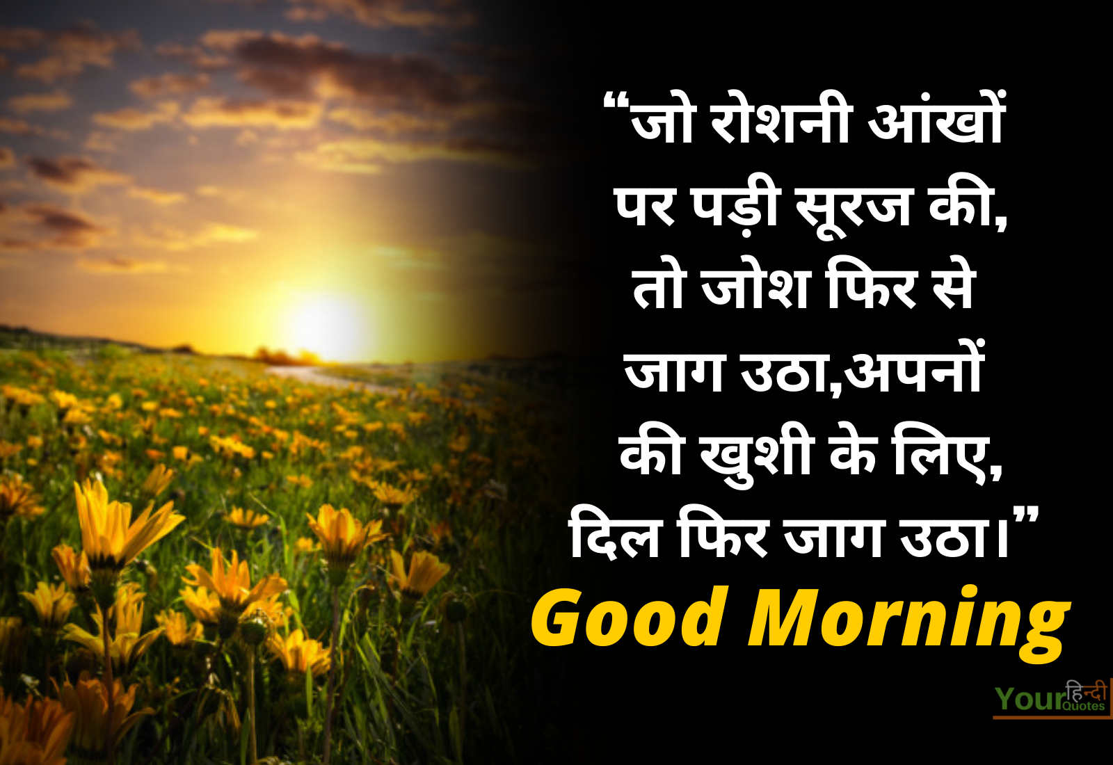 Best Hindi Morning Quotes Image